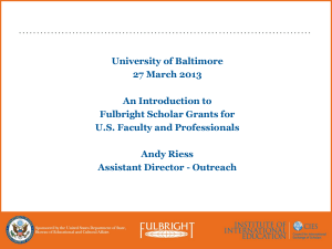 Workshop Presentation - University of Baltimore