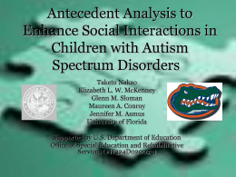 Social initiation - University of Florida