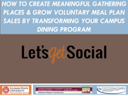 how to create meaningful gathering places & grow