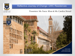 A holistic approach to student services at UWC residences
