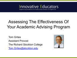 """Assessing the Effectiveness"" Powerpoint"