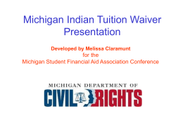 Michigan Indian Tuition Waiver