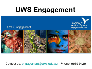engagement facilitator - University of Western Sydney