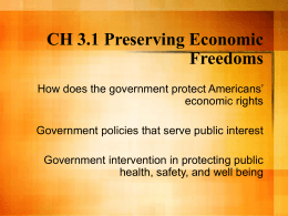 CH 3.1 Preserving Economic Freedoms