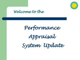 Performance Appraisal System 2007 Slide Presentation