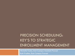 Precision Scheduling I PowerPoint Presentation