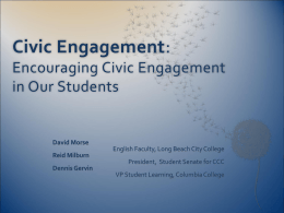 Encouraging Civic Engagement in Our Students
