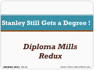 Stanley Still Gets a Degree