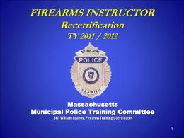 mptc firearms inst recert `09 - `10