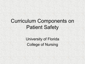 Nursing Curriculum - University of Florida
