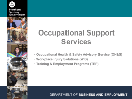 Occupational Health & Safety - Office of the Commissioner for Public