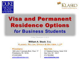 Visa and Permanent Residence Options for Business Students