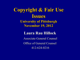 Copyrights & Legal Issues