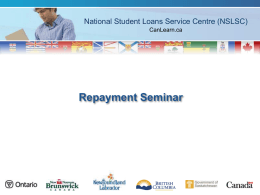 Repaying your loan - Nipissing University