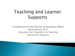 Teaching and Learner Support - University of Arkansas for Medical