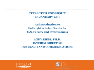 An Introduction to Fulbright Scholar Grants for U.S. Faculty and