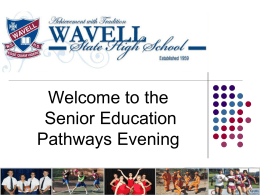 Senior Pathways Evening 2014
