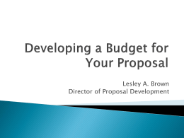 Budget Basics 2014 - Research & Economic Development | UNC