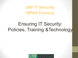 HIPAA Training - University of South Florida