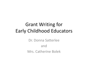 Grants Writing for Early Childhood Educators