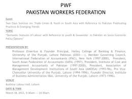 PWF PAKISTAN WORKERS FEDERATION