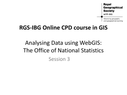 Analysing data using webGIS: The Office of National Statistics