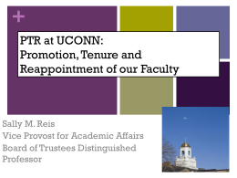A Quick Guide to Tenure and Promotion