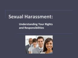 Sexual Harassment - South Puget Sound Community College