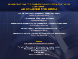 Threat Assessment and Management in Schools