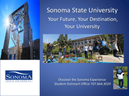 The Sonoma Experience - The California State University