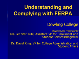 FERPA Policies - Dowling College