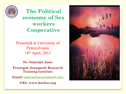 The Political economy of Sex workers Cooperative