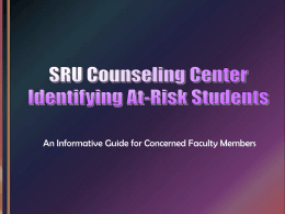 Identifying Students at Risk