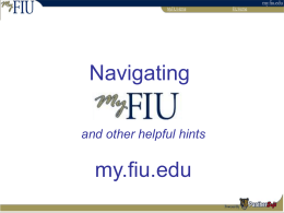 Navigating - Academic Affairs