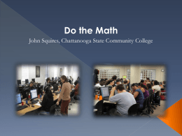 Do the Math NCAT 2013 JohnSquires