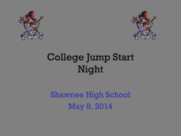 College Jump Start Night - Lenape Regional High School District