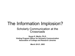 The Information Implosion?