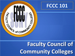 PowerPoint Presentation - Faculty Council of Community Colleges