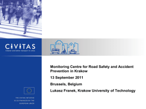 Monitoring Centre for road safety and accident prevention