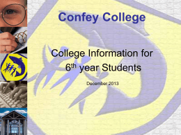 Third Level Progression from Confey College 2013