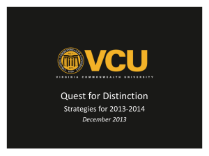 2013-2014 Strategy - Quest for Distinction
