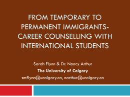 Career Counselling with International Students