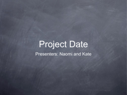 project-date-presentation