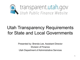 Transparency in Government - Utah Municipal Clerks Association