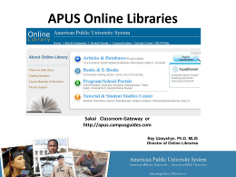 Online Library Resources for Faculty & Students
