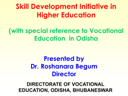 history of vocational education in orissa
