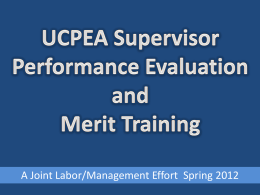 Labor/Management Performance Evaluation and Merit Training