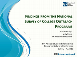 Findings from a National Survey of College Outreach Programs