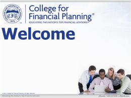 1–2 - College for Financial Planning