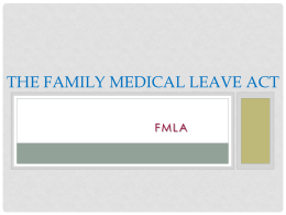 FMLA  - Odle Management